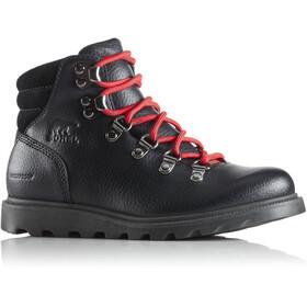 Sorel Youth Madson Hiker Waterproof Shoes Black/Black